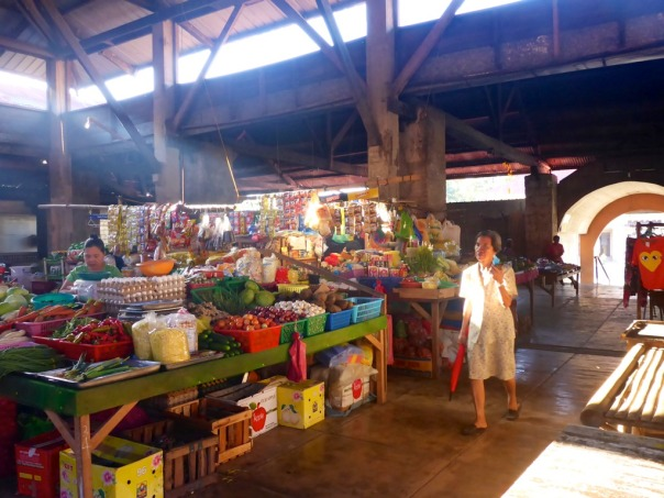 The Baclayon Public Market, peaceful on ordinary days, a great center of trade on market days - since the Spanish colonial period!